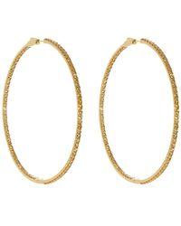 Lynn Ban - 14kt Gold Vermeil And Sapphire-pavé Hoop Earrings - Lyst