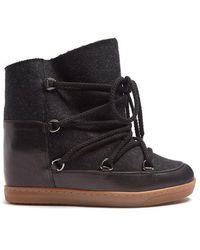 Isabel Marant - Nowles Shearling-lined Aprés-ski Boots - Lyst