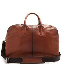 Berluti - - Bowling Leather Travel Bag - Mens - Brown - Lyst