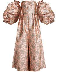 Erdem - Kaelyn Balloon Sleeve Floral Brocade Gown - Lyst