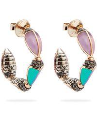 Bibi Van Der Velden - Scarab Hoop Earrings - Lyst