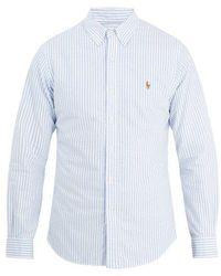 Polo Ralph Lauren - Logo-embroidered Cotton-oxford Shirt - Lyst