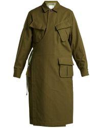 Toga - Wrap-front Cotton Coat - Lyst