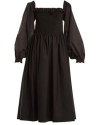 Molly Goddard - Andrea Elasticated-shoulder Cotton Dress - Lyst