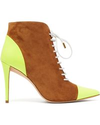MATTY BOVAN - X Gina Rodine Lace Up Suede Ankle Boots - Lyst