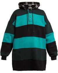 Balenciaga - Striped Cotton Sweatshirt - Lyst