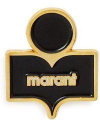 Isabel Marant - Logo-embellished Gold-tone Brass And Resin Brooch - Lyst