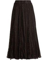 Dodo Bar Or - Jamie Ruffle Trimmed Striped Chiffon Skirt - Lyst