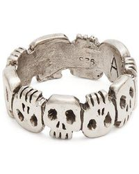 Aris Schwabe - Crypt Sterling-silver Ring - Lyst