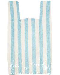 Ashish - Striped Sequin Embellished Cotton Bag - Lyst