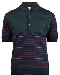 Paul Smith - Striped Cotton-knit Polo Shirt - Lyst