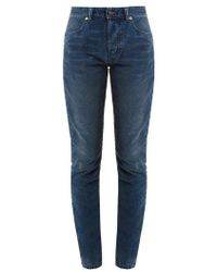 Saint Laurent - High-rise Skinny-leg Corduroy Trousers - Lyst