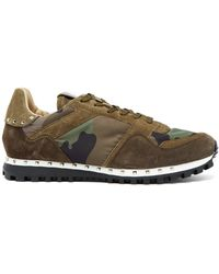 Valentino - Rockrunner Camouflage-print Trainers - Lyst