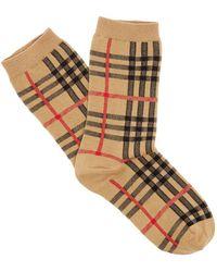 Burberry - Vintage Check Cotton Blend Socks - Lyst