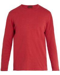 Altea - Crew-neck Linen And Cotton-blend Jumper - Lyst