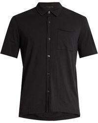 ATM - Raw-edge Cotton-jersey Shirt - Lyst