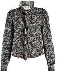 Étoile Isabel Marant - Tauren Floral-print Ruffle-trimmed Blouse - Lyst