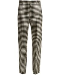 Balenciaga - Gingham Wool Trousers - Lyst