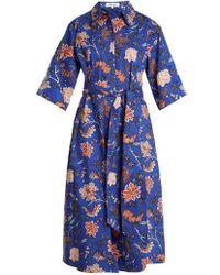Diane von Furstenberg - Canton-print Stretch-cotton Dress - Lyst