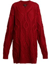 Isabel Marant - Bev Cable Knit Wool Sweater - Lyst