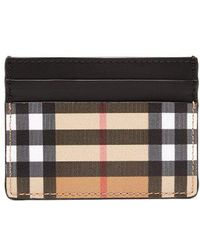 Burberry - House Check-print Leather Cardholder - Lyst