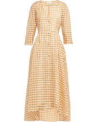Isa Arfen - Amalfi Gingham Organza Dress - Lyst