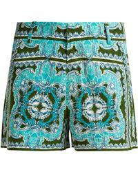 Le Sirenuse - Aretusa Print Cotton Shorts - Lyst