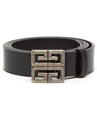 Givenchy - Logo Buckle Leather Belt - Lyst