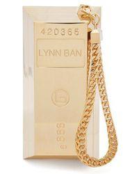 Lynn Ban - Bullion Bar Gold-plated Wristlet Bag - Lyst