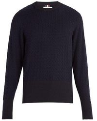 Thom Browne - Crew-neck Cable-knit Jumper - Lyst
