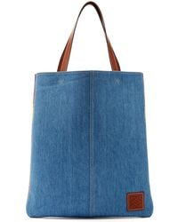 Loewe - Striped Woven Cotton Tote - Lyst
