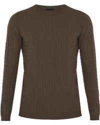 Giorgio Armani - Crew-neck Wool-blend Sweater - Lyst