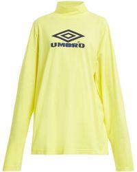 Vetements - X Umbro Long-sleeved Cotton-jersey Top - Lyst