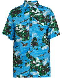 Lanvin - Hawaiian Fantastic-print Bowling Shirt - Lyst