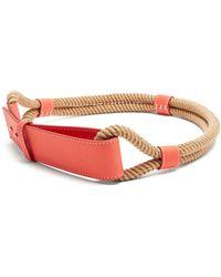 Roksanda | Leather And Rope Waist Belt | Lyst