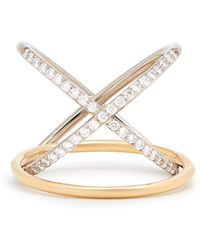 Charlotte Chesnais - Xo Diamond & Gold Ring - Lyst