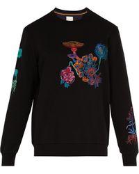 Paul Smith - Mushroom-embroidered Cotton Sweatshirt - Lyst