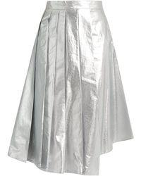 Awake - Shiny Starfish Asymmetric Pleated Cotton Skirt - Lyst