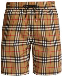 42efd6ee71c1f Burberry - Vintage Check Swim Shorts - Lyst