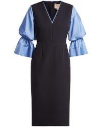 ROKSANDA - Dania Silk Blend Crepe Midi Dress - Lyst
