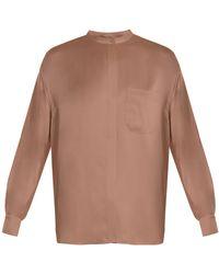 Vince - Long-sleeved Silk-satin Blouse - Lyst