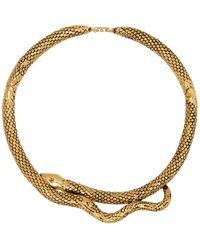 Aurelie Bidermann - Tao 18kt Gold Plated Snake Choker - Lyst