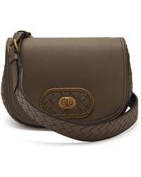 c3fdecc66046 Bottega Veneta Bv Luna Leather Cross Body Bag in Blue - Lyst