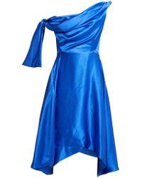 Vivienne Westwood - Butternut Draped Asymmetric Silk Dress - Lyst