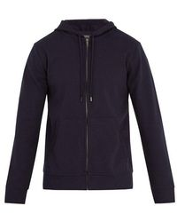 A.P.C. - Roadie Zip-up Hooded Cotton Sweatshirt - Lyst