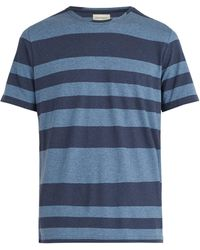 Oliver Spencer - Conduit Striped Cotton Jersey T Shirt - Lyst