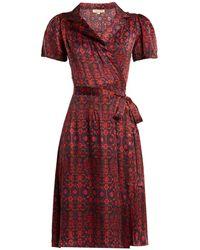 Muzungu Sisters - Soraya Silk Wrap Dress - Lyst