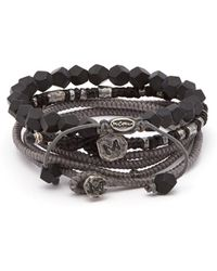 M. Cohen - The Create Stack Ii Beaded Silver Bracelet - Lyst