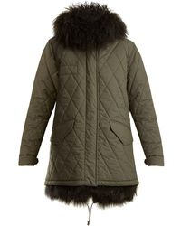 Mr & Mrs Italy - Shearling Lined Hooded Cotton-blend Coat - Lyst