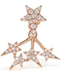Diane Kordas - Diamond & Rose-gold Star Earring - Lyst